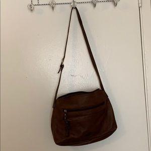 Stone Mountain, soft brown shoulder bag.